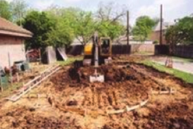 swimming pool excavation