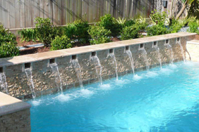 Houston custom water features